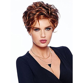 Romantic Wig Tapered Curls Sleek Collar Length Monofilament Part Lace Front by Raquel Welch Wigs,SS44/60