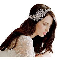 Wedding Headdress Handmade Crystal Rhinestones Headband Bridal Hair Accessorie Headpieces Flower Head Band Wear Jewelry