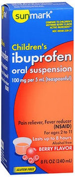 Sunmark, Sunmark Childrens Ibuprofen Oral Suspension Berry Flavor, Berry Flavor 8 oz