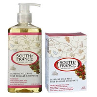 South Of France Natural Body Care Climbing Wild Rose Hand Wash and Bar Soap Bundle, 1 Each