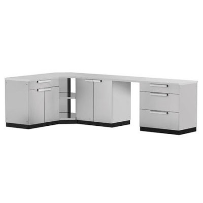 Newage Products Stainless Steel Classic 6-Piece 110x36x76 in. Outdoor Kitchen Cabinet Set