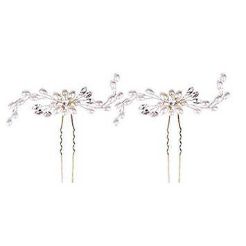 2 Pieces Bridal Wedding Rhinestone Hair Pins Decorative Hair Accessories for Bridal