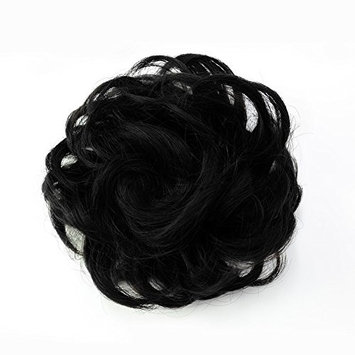 Qileyi Synthetic Chignon Hair Curly Updo Hair Bun Donut Extension Messy Dish Scrunchie Scrunchy Color Variation Short Hair Pieces