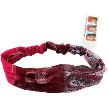 Red Psychedelic Flowers Headband - Vintage Retro Headband