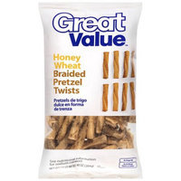 Great Value: Honey Wheat Braided Pretzel Twists, 10 oz