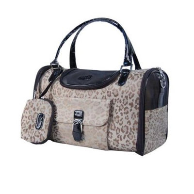 Anima Brown Leopard Travel Bag For Puppy Dog - Small