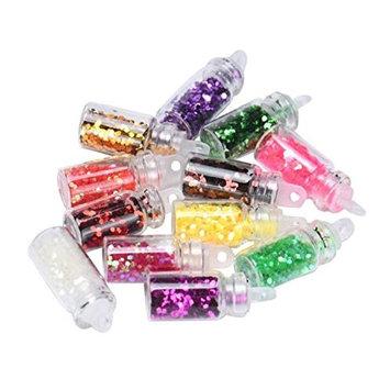 Vovotrade Fashion Hot 12 Colors Nail Art Tips Stickers 3D Glitter Sequins Manicure DIY Set