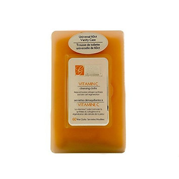 Vitamin C Cleansing Cloths with Vanity Case - 60ct