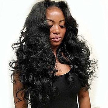 Hmy 100% Brazilian Body Wave Virgin Human Hair Silk Base 13x4 3D Lace Frontal Closure Natural Black Hair (16 inch)