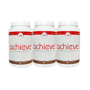 3x Zrii ACHIEVE Mix Soy Protein Isolate with Milk Protein Isolate Dutch Chocolate ( 44.46 ounce )