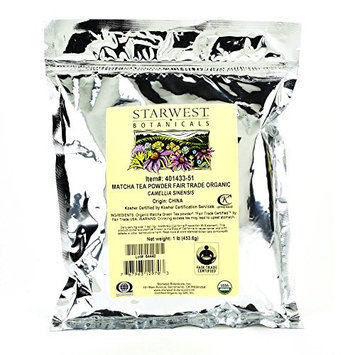 Starwest Botanicals Matcha Tea Powder Organic Fair Trade