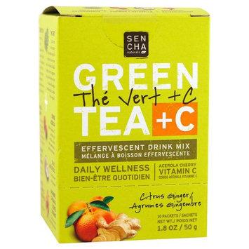 Sencha Naturals, Green Tea + C, Citrus Ginger, 10 Packets, 1.8 oz (50 g) Each [Flavor : Citrus Ginger]