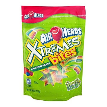 AirHeads Chewy Bites Resealable Bag 9oz (Xtremes Rainbow Bites)