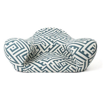 Alexia Meditation Seat D371-E103 11.5 x 32 x 26 in. Alexia Meditation Seat Caribbean Blue Fabric