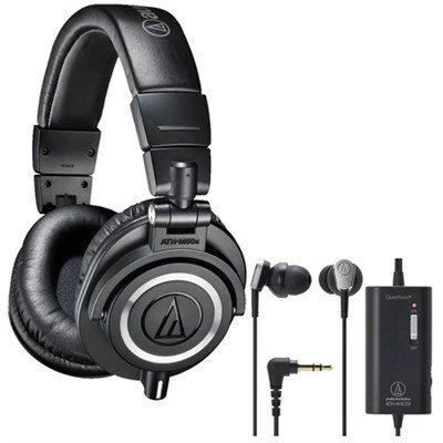 Audio-Technica ATH-M50X Professional Studio Headphones Plus Bonus ATH-ANC23 In-Ear Headphones
