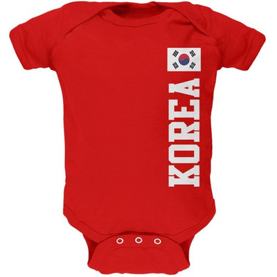 World Cup South Korea Red Soft Baby One Piece