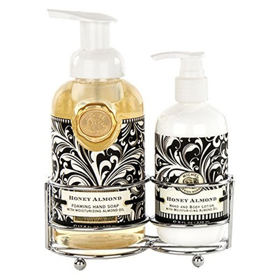 Michel Design Works Hand Care Soap/Lotion Caddy Set, Honey Almond, Set of 2 Caddy Holders Sets