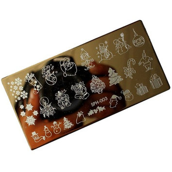 Vovotrade Christmas DIY Nail Art Image Stamp Stamping Plates Manicure Template