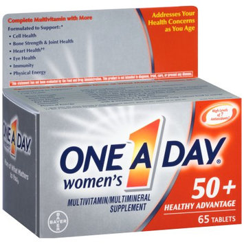 Bayer One A Day Multivitamin Supplement Tablets for Women Above 50 - 65 Count
