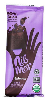 NibMor - Dark Chocolate with Cacao Nibs Extreme - 2.2 oz.(pack of 6)