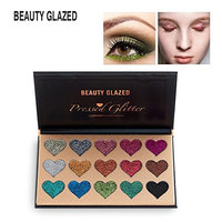 Beauty Glazed 15 Colors Glitter Shimmer Eye Shadow Palette Highly Pigmented Mineral Cosmetic Makeup Professional Cosmetic