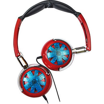 Empire Brands Wicked Tour Folding Headphones Red