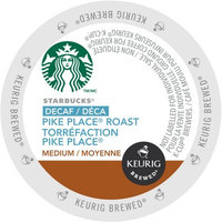Green Mountain Starbucks Decaf Pike Place Roast Coffee, K-Cup Portion Pack for Keurig Brewers