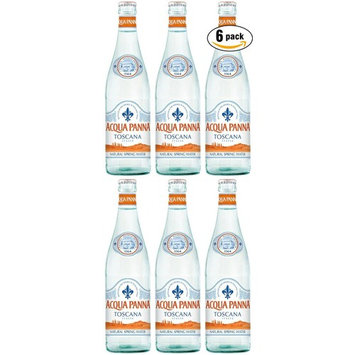 Acqua Panna Natural Spring Water, Glass Bottle 500ML, 16.9 Oz (Pack of 6)
