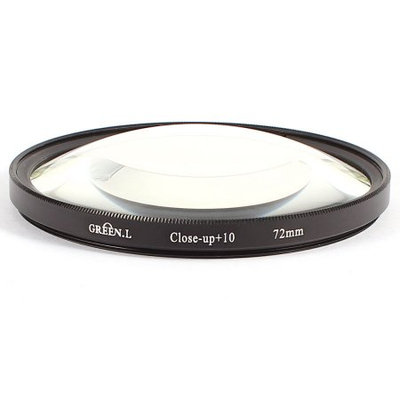 72mm Macro Close Up Lens Digital Filter +10 Black Clear for Camcorder