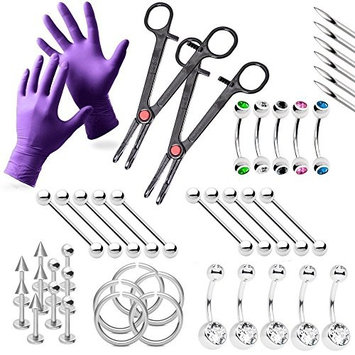 Piercing Kit For Everything Jewelry Needles,Gloves and Tools