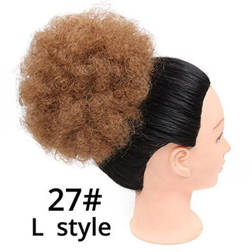 Short Afro Kinky Curly Ponytail Drawstring High Puff Afro Curly Pony tail Clip in on Synthetic Curly Hair Bun Kanekalon