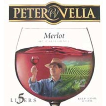 Peter Vella Merlot Wine, 5 L