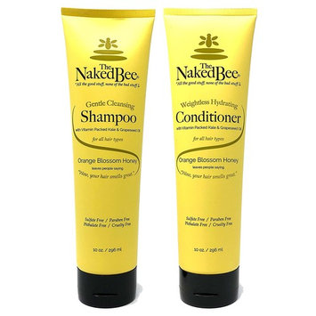 The Naked Bee Orange Blossom Honey Shampoo and Conditioner Set of 2 (10 Ounce Bottles)