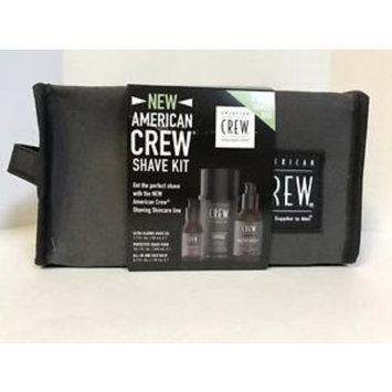American Crew Shave Kit - Shaving Foam, Shave Oil, Facial Balm Dopp Kit