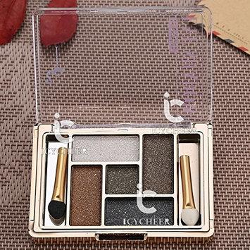 5 Colors Fashion Natural Eyeshadow Smoky Cosmetic Eye Shadow Makeup Party Brush