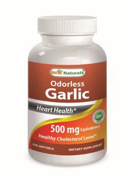 Best Naturals Odorless Garlic 500 mg 240 Softgels