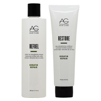 Ag Hair Care AG Hair Refuel Shampoo 10oz + Restore Conditioner 6oz 'Duo' (Pack of 2)