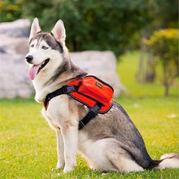 Paw Essentials MWG-C324 Dog Backpack Medium Large Dogs Harness With Removable Adjustable Self Saddle Bag Carrier Hound Bag for Travelling Hiking Camping - Red
