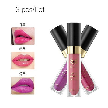 Fashion Lipstick Matte Velvet Waterproof Long Lasting Natural Lipstick 3Pcs/Lot