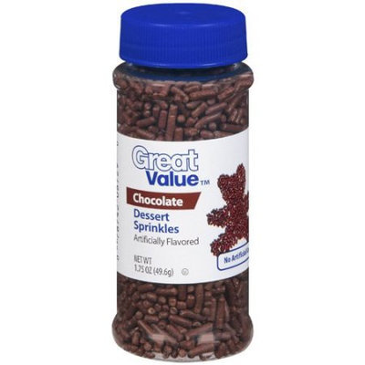 Great Value: Chocolate Dessert Sprinkles, 1.75 oz