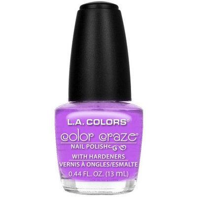 Beauty 21 Cosmetics CNP612 0.44 fl oz LA Colors Craze Nail Polish Purple Vivid