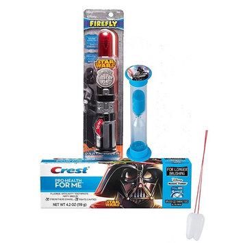 Star Wars Darth Vader Inspired 3pc Bright Smile Oral Hygiene Set! Lightsaver Light Up Toothbrush, Toothpaste & Brushing Timer! Plus Bonus