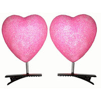 Lucore Heart Head Bopper Hairpins - 10 PC Set Bobble Wobble Valentines Day Hair Clip Decorations