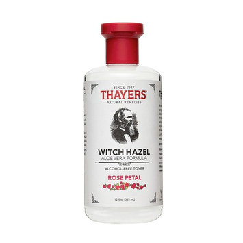 Thayers Alcohol-Free Rose Petal Witch Hazel with Aloe Vera, 12 Fluid Ounce - Pack of 2
