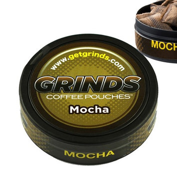Grinds Coffee Pouches-3 Can Sampler Pack - Mint Chocolate, Vanilla, Mocha - Tobacco Free, Nicotine Free Healthy Alternative