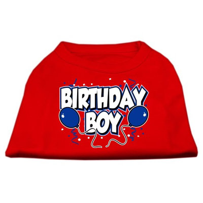 Mirage Pet Products 5105 MDRD Birthday Boy Screen Print Shirts Red Med 12