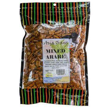 Oriental Rice Crackers, 16 Ounce - Mixed Arare Mochi Crunch - Perfect on the go snack. Add to popcorn or trail mix. Packed fresh in Hawaii. Sweet and salty flavor profile
