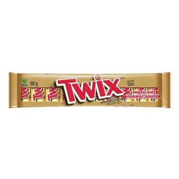 Mars Twix Caramel Milk Chocolate Snack Size Cookie Bars, 10 minis (Imported from Canada)