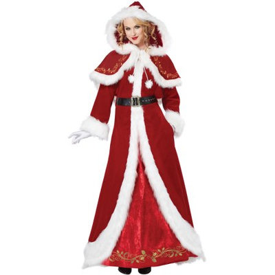 California Costume Collections Mrs. Claus Deluxe