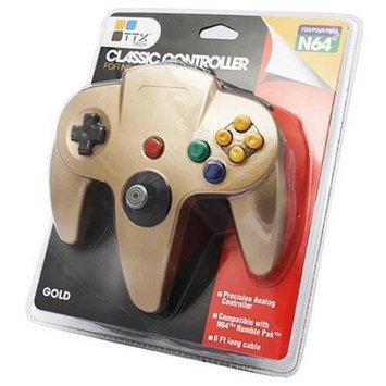 TTX Tech Classic Controller OG for Nintendo 64 - Gold